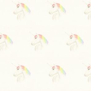 Hand drawn Rainbow Unicorn