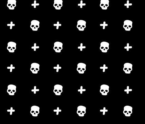 Skull & Crosses fabric by ireneflorentina on Spoonflower - custom fabric