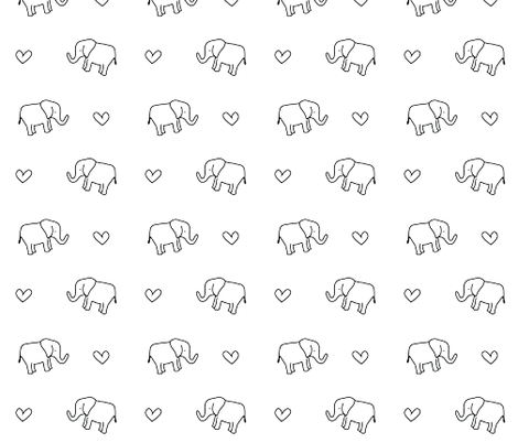 Elephant love II fabric by ireneflorentina on Spoonflower - custom fabric