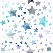 Stars - watercolour blue