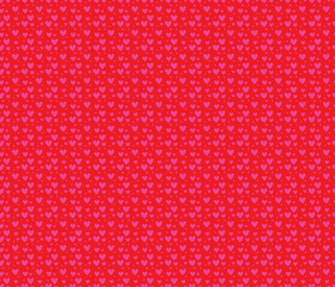 Red Pink Hearts fabric by snapdragonandfinn on Spoonflower - custom fabric