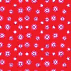 Red Valentine Circles