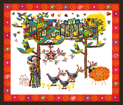 Pinata Party in Heartbeat City fabric by anniedeb on Spoonflower - custom fabric
