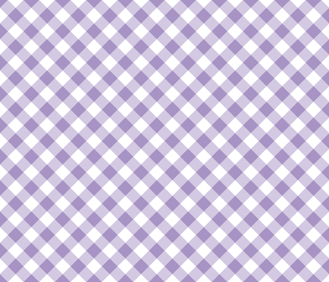 Purple Gingham fabric by snapdragonandfinn on Spoonflower - custom fabric