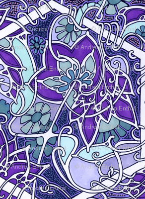 Tangled Up In Purple Nouveau