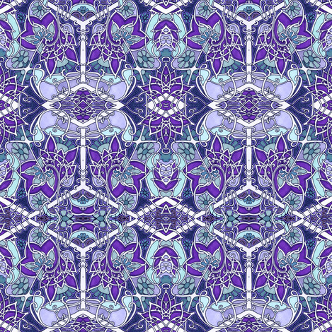 Tangled Up In Purple Nouveau fabric by edsel2084 on Spoonflower - custom fabric