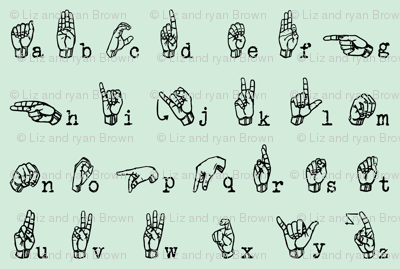 Sign Language Alphabet // Jade