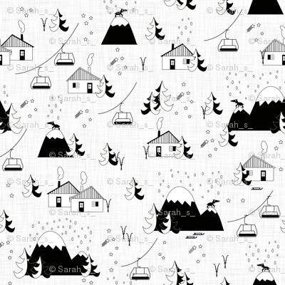 Mountain landscape (b&w)