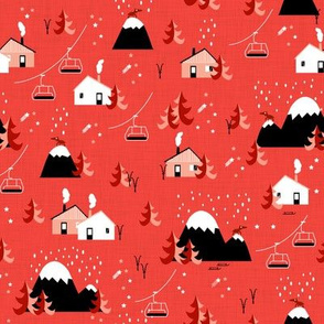Mountain landscape (red small)