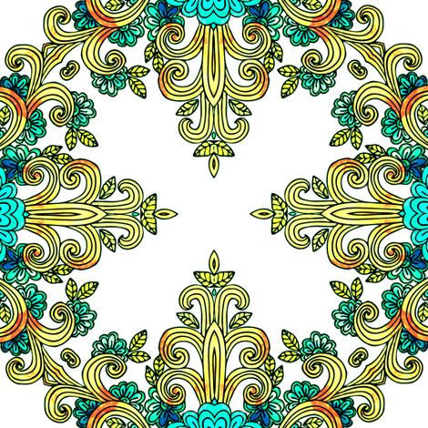 dappled gold curls fabric by janbalaya on Spoonflower - custom fabric
