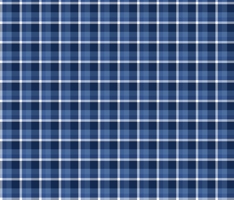 Navy Plaid fabric by binge_crafter on Spoonflower - custom fabric
