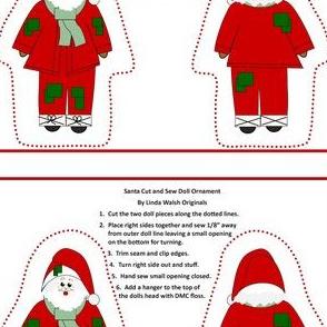 Bowling For Xmas, Santa Cut and Sew Doll Ornament #1