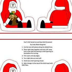 Can't I Sit! Santa Cut and Sew Doll #2