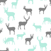Aqua_and_Gray_Deer_Roaming