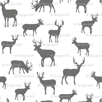 Gray_and_White_Deer_Sketched