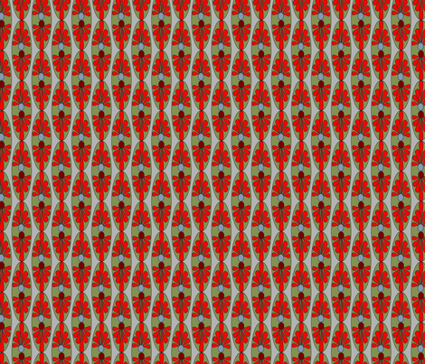 Abstract Red Olive Taupe Gray Grey Floral Oval_Miss Chiff designs fabric by misschiffdesigns on Spoonflower - custom fabric