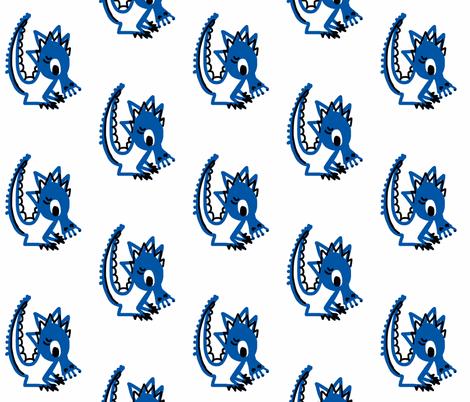 Blue Dragon fabric by stephaniecolecreations on Spoonflower - custom fabric
