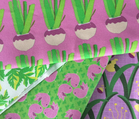 Turnip Vegetable Lilac Purple Lime Green Pink_Miss Chiff Designs
