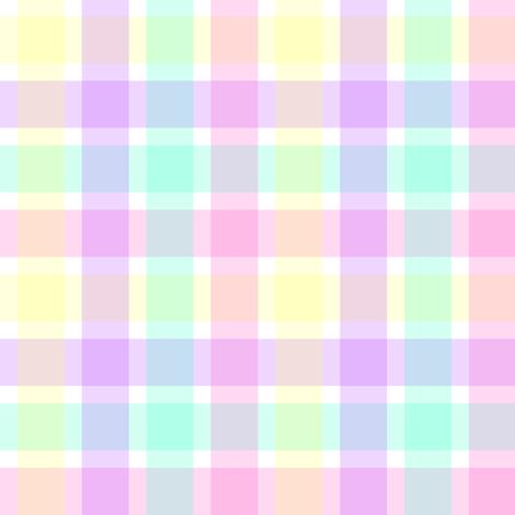 Pastel Homespun Look Plaid fabric by magic_circle on Spoonflower - custom fabric