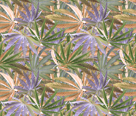 Cannabis Crowd fabric by camomoto on Spoonflower - custom fabric