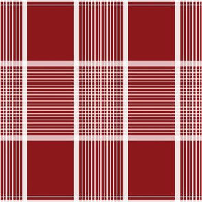 Mille Picnic Tartan in cranberry reversed