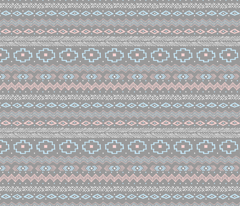Southwest Stipe (Rose Quartz and Serenity) fabric by robyriker on Spoonflower - custom fabric