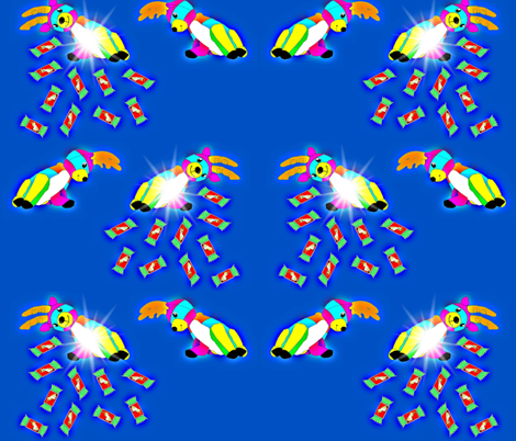 Reindeer Pinatas fabric by b2b on Spoonflower - custom fabric