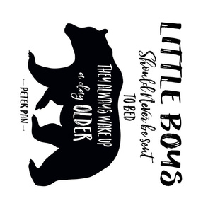 "21""x18"" Little Boys Quote Bear - 90 degrees / 1 Bear to a Fat Quarter"