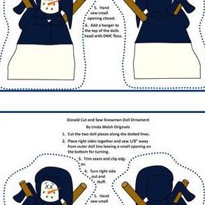 Donald Cut and Sew Snowman Ornament