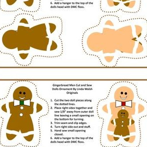 Gingerbread Men Cut and Sew Ornaments