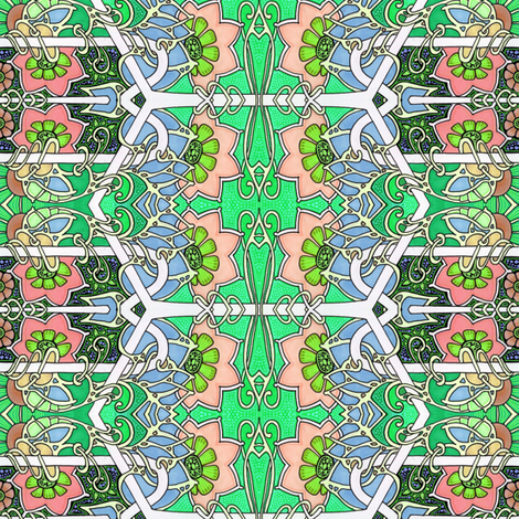 Granny's Geraniums fabric by edsel2084 on Spoonflower - custom fabric