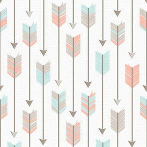 Tribal Arrows Pattern Apricot Blue Grey