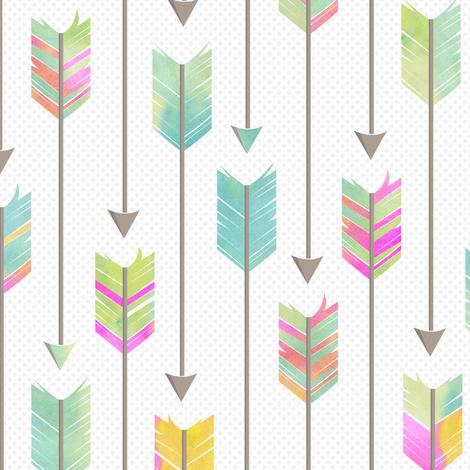 Watercolor Tribal Arrows Pattern  fabric by jannasalak on Spoonflower - custom fabric