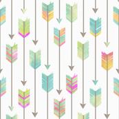 Watercolor Tribal Arrows Pattern