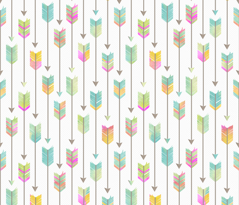 Watercolor Tribal Arrows Pattern  fabric by jannasalak on Spoonflower - custom fabric