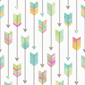 Watercolor Tribal Arrows Pattern