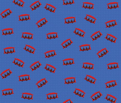 Trolley Pattern Blue fabric by gnarllymamadesigns on Spoonflower - custom fabric