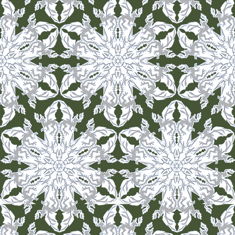 Dragon Snowflakes fabric by eclectic_house on Spoonflower - custom fabric