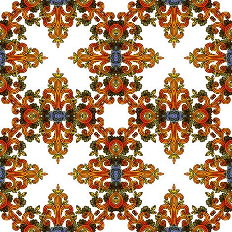 dappled orange curls fabric by janbalaya on Spoonflower - custom fabric