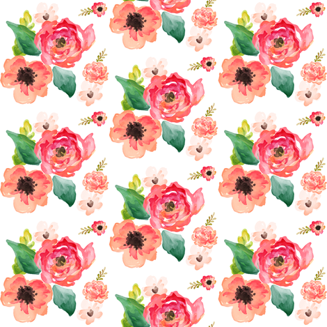 Mini Floral Dreams White fabric by shopcabin on Spoonflower - custom fabric