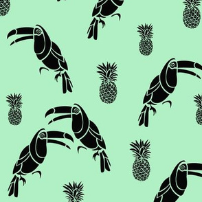 Toucan (mint and black)