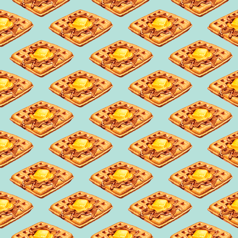 Waffles fabric by kellygilleran on Spoonflower - custom fabric