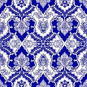Blue Gothic Ornate Design