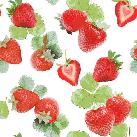 Strawberry Summer fabric by lilyoake on Spoonflower - custom fabric