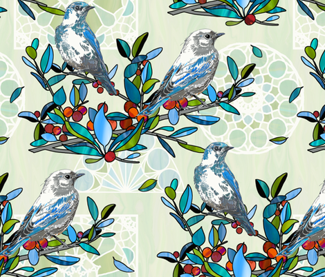 stained glass in nature fabric by designed_by_debby on Spoonflower - custom fabric
