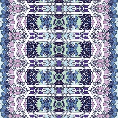 Flower Dream Stripe fabric by edsel2084 on Spoonflower - custom fabric