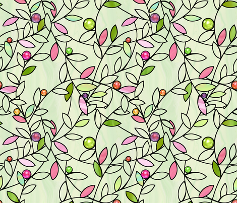 jeweled vines fabric by designed_by_debby on Spoonflower - custom fabric
