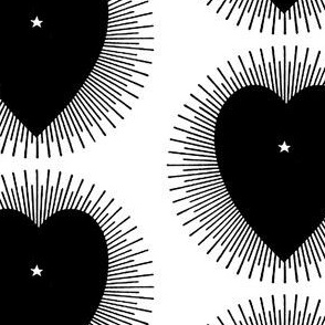 Black Heart Sunburst