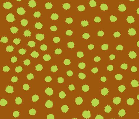 creepy dot simple lime fabric by bbusbyarts on Spoonflower - custom fabric