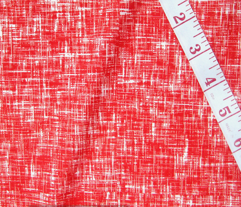 LARGE Red + white linen-weave by Su_G